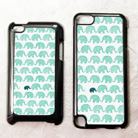 Elephant iPod Touch 4 case Elephant iPod Touch 5 case Elephant iPod 4 case Elephant iPod 5 case iPod 4 Hard case iPod 5 Hard case