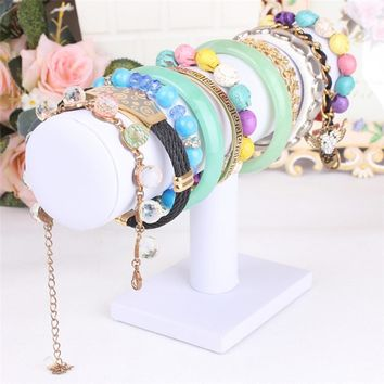 Home Wider Ouneed   Leather Jewelry Rack Bracelet Necklace Stand Organizer Holder Display dropship jan17 Drop Shipping