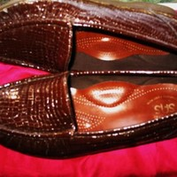 SAS SHOES TRIPAD COMFORT SIMPLIFY LEATHER CROC LOAFERS! S 6.5M/37 !MADE IN USA !