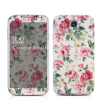 Samsung Galaxy S4 Decal / I9500 decal sticker / Samsung S3 Case / Flowers