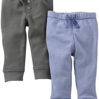 Carter's 2 Pack Pants (Baby) - Olive - Free Shipping