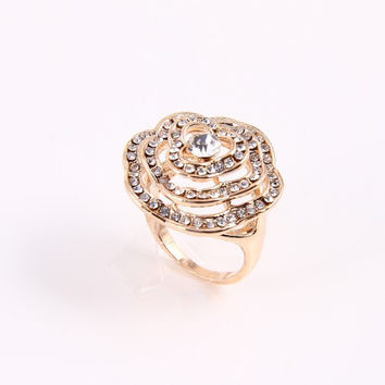 Crystal Rose Gold Ring