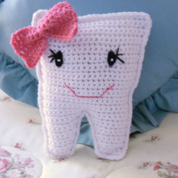 Crocheted Tooth Fairy Pillow by thecrafter on Etsy