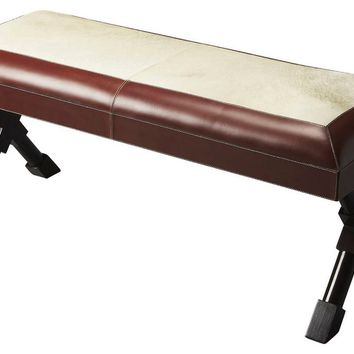 Butler Taos Leather & Hair-On-Hide Bench