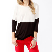Relaxed Colorblock Top