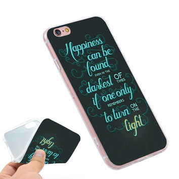 Harry Potter Happiness Can Be Found  Clear Soft TPU Slim Silicone Phone Case Cover for iPhone 4 4S 5C 5 SE 5S 7 6 6S Plus