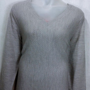 167964 Sag Harbor Mixed Knit Super Soft Sweater Fits 3X