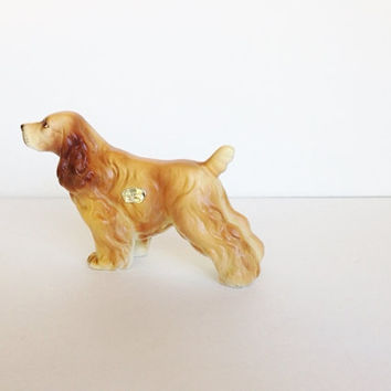 Vintage Cocker Spaniel Dog Canine Figurine Ceramic Porcelain Made by Enesco Japan