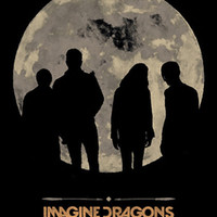 Imagine Dragons Poster Flag Night Visions Moon Tapestry