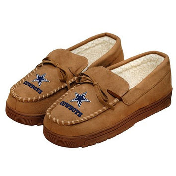 Dallas Cowboys Official NFL Mens Moccasin Slippers