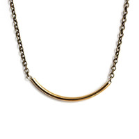 Golden Tube Necklace