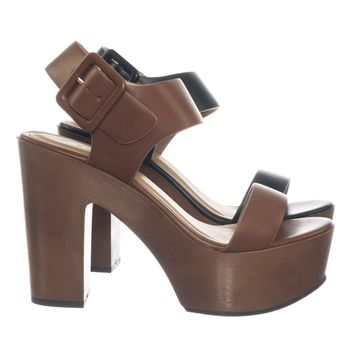 55ae33fc0f244 Shop Wooden Heel Sandal on Wanelo