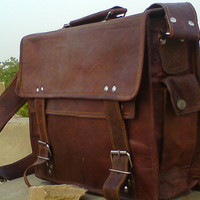 Leather Messenger Bag / Satchel - Vintage Retro Looking