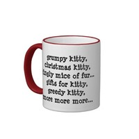 christmas kitty, greedy kitty, song, personalized