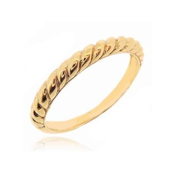 "STACK RING ""TWISTED ROPE YELLOW GOLD"""
