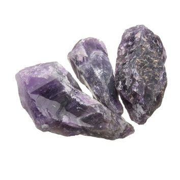100g Natural Purple Amethyst Quartz Crystal Rough Rock Specimen Healing Stones Aquarium Fish Tank Planting Pot DIY Materials