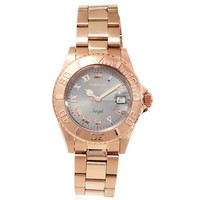 Invicta 14368 Womens Angel Light Grey Dial Rose Gold Steel Dive Watch