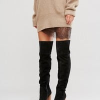 ASOS KEIRA Suede Over The Knee Boots