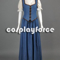 Once Upon a Time Belle Dress Cosplay Costume