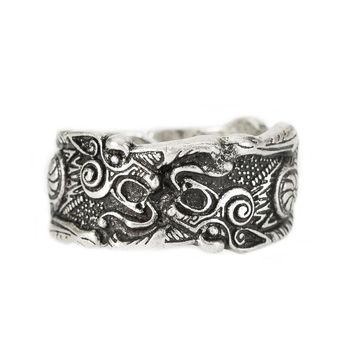 1pc Dragon Ring Signet Viking Symbol God Rings Anel Norse Viking Runic Bague Men Jewelry