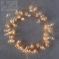 Battery Powered Glass Bubble String Lights gerlyanda Decorative LED Christmas Lights for Party Holiday Decoration Garland