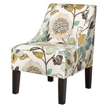 Swoop Upholstered Accent Chair - Georgeous Pearl