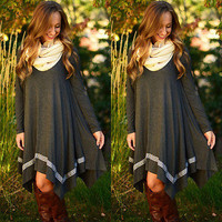 Sundance Long Sleeve Loose Maternity Top Dress