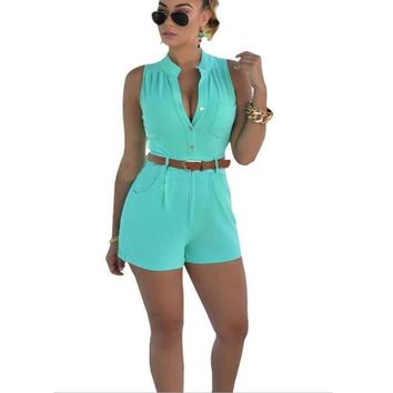 Sky Blue, White, Yellow, Red Collection Women Jumpsuit Romper