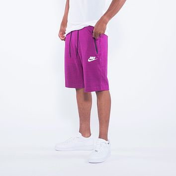 Nike Men's NSW Sportswear Advance AV15 Knit Shorts True Berry Heather