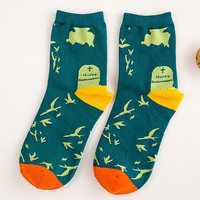 Halloween Print Socks for Women Autumn Winter Gift-08