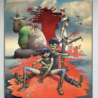 New! GORILLAZ Demon Days Blur Vinyl Banner Poster 27x39