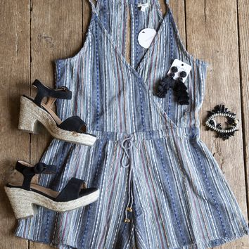 Nevada Sleeveless Romper, Grey