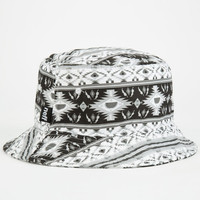 Neff Nativation Mens Bucket Hat Black/White One Size For Men 24801612501