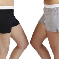 Jerzees Juniors Pack of 2 womens gym/running/yoga/cheer shorts - Black and Grey XL