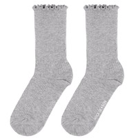 Princess Lulu Ruffle Socks | Grey