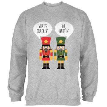DCCKU3R Christmas Nutcracker What's Crackin' Funny Mens Sweatshirt