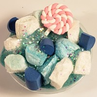 Mermaid Treats Vanilla Cake Slime with Glitter so Sparkly and Vanilla Scented Slime with Charms