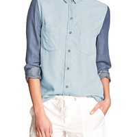 Banana Republic Womens Factory Chambray Shirt
