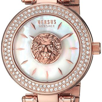 Versus by Versace Women's 'BRICK LANE' Quartz Stainless Steel and Gold Plated Casual Watch