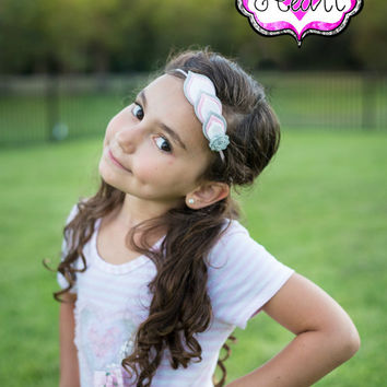 Felt Feather Headband - Girly Essentials - Layered Felt Flower - 100% USA made felt - Clip -Wool blend felt - Baby Child Teen Adult