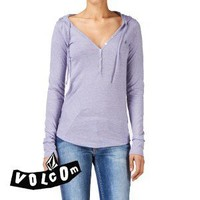 Volcom Knotty Girl Long Sleeve T-Shirt - Heron Blue