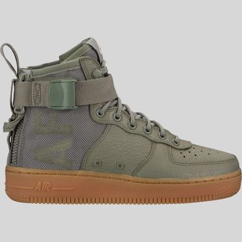 AUGUAU Nike Wmns SF AF1 MID Dark Stucco Dark Stucco-Gum Light Brown