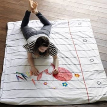 Doodle Duvet - Draw on it, Wash it, Do it again