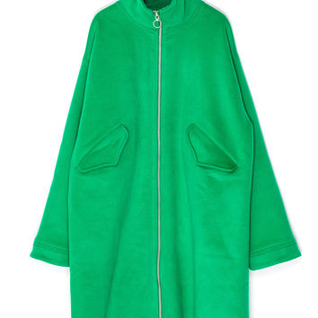 Loose Wool Green Coat