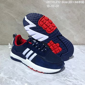HCXX A540 Adidas 2019 New Fashion EQT ZX Boost Running Shoes Dark Blue