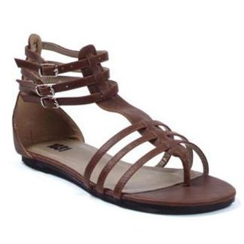Women's Shoes Gladiator Flat Sandal (5,Brown)