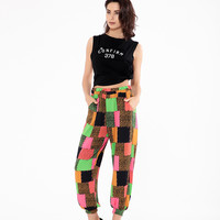 Creative Bright Colorful Stylish Print Casual Pants Summer Lights [11405557647]