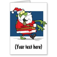 Zombie Christmas Santa funny personalized Greeting Card