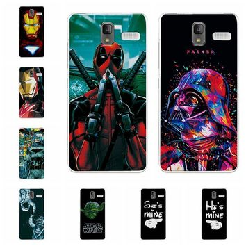 """Deadpool Dead pool Taco Charming  Cases Coque For Lenovo S580 S 580 iron Man Soft Silicone Phone Case Fundas For Lenovo S580 Back Cover Capa 5"""" AT_70_6"""