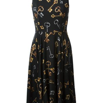 Dolce & Gabbana key print flared dress